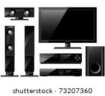 home theater system | Shutterstock .eps vector #73207360