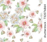 bright seamless pattern with... | Shutterstock . vector #732076864