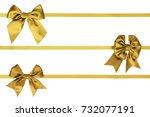 three horizontal ribbon with... | Shutterstock . vector #732077191