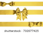 three horizontal ribbon with... | Shutterstock . vector #732077425