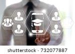 mobile e learning business... | Shutterstock . vector #732077887