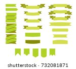flat vector ribbons banners... | Shutterstock .eps vector #732081871