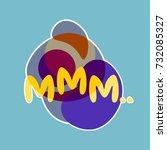 mmm sticker social media... | Shutterstock .eps vector #732085327