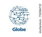 vector logo globe | Shutterstock .eps vector #732086719