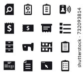 16 vector icon set   search... | Shutterstock .eps vector #732093814