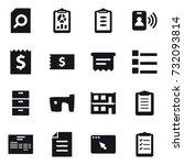 16 vector icon set   search... | Shutterstock .eps vector #732093814