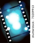 movies film blue light... | Shutterstock . vector #73209913