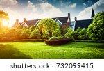 beautiful modern house in...   Shutterstock . vector #732099415