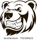 vector illustration  a grizzly... | Shutterstock .eps vector #732100621