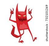 vector cartoon image of a funny ... | Shutterstock .eps vector #732101269