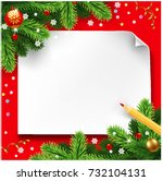 christmas wish letter  letter... | Shutterstock .eps vector #732104131
