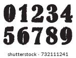 grunge numbers set.vector...   Shutterstock .eps vector #732111241