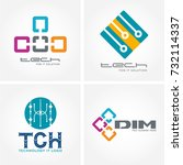 technology logo  computer and... | Shutterstock .eps vector #732114337