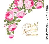 marriage invitation card with... | Shutterstock .eps vector #732115009