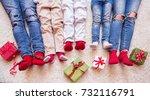 happy family celebrating... | Shutterstock . vector #732116791