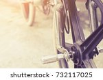 close up image of bmx bike... | Shutterstock . vector #732117025