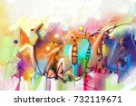 abstract colorful fantasy oil... | Shutterstock . vector #732119671