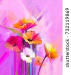 abstract oil painting of spring ... | Shutterstock . vector #732119869