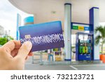 credit card to make a payment... | Shutterstock . vector #732123721