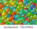 seamless colored blue spheres... | Shutterstock . vector #732124561
