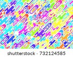 seamless acid crimson forms and ... | Shutterstock . vector #732124585