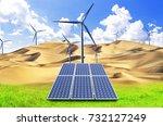 photovoltaic power generation...   Shutterstock . vector #732127249