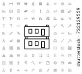 modular house icon. set of... | Shutterstock .eps vector #732129559