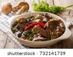 delicious food  beef stew with... | Shutterstock . vector #732141739