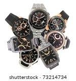 a set of seven different men's... | Shutterstock . vector #73214734