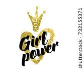 vector illustration  girl power ... | Shutterstock .eps vector #732155371