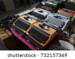 retro typewriters in an antique ... | Shutterstock . vector #732157369