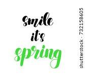 smile it s spring. brush hand...   Shutterstock . vector #732158605