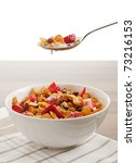 Spoonful Of Cereals And Fruits...