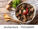 delicious food  beef stew with... | Shutterstock . vector #732166009
