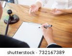 business people and lawyers... | Shutterstock . vector #732167389