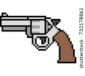 Vector Pixel Art Gun Magnum...
