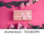 flowers alstroemerias  gift box ... | Shutterstock . vector #732182494