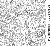 tracery seamless pattern.... | Shutterstock .eps vector #732187501