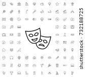 theatre mask icon. set of... | Shutterstock .eps vector #732188725