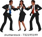 illustration of smartly dressed ...   Shutterstock .eps vector #732195199