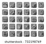 landscape design  icons  linear ... | Shutterstock .eps vector #732198769