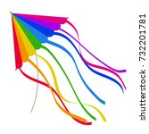 colorful kite isolated on white ...   Shutterstock .eps vector #732201781