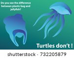 stop ocean plastic pollution.... | Shutterstock .eps vector #732205879