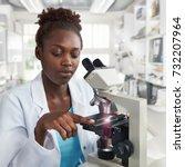 african american female... | Shutterstock . vector #732207964