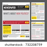 daily newspaper colored... | Shutterstock .eps vector #732208759
