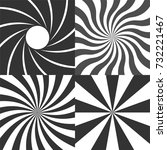psychedelic retro spiral black... | Shutterstock .eps vector #732221467