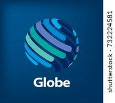 vector logo globe | Shutterstock .eps vector #732224581