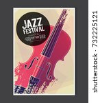 music poster template. vector... | Shutterstock .eps vector #732225121