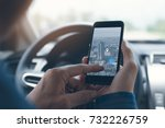 man searching destination... | Shutterstock . vector #732226759
