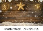 christmas background  old...   Shutterstock . vector #732228715